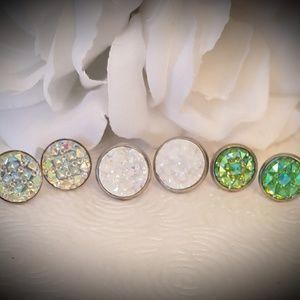 Druzy Earrings set